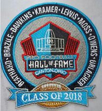 PRO FOOTBALL HALL OF FAME PATCH NFL HOF CLASS OF 2018 CANTON OHIO SUPER BOWL