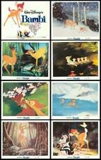 BAMBI original lobby card set DISNEY 11x14 movie posters