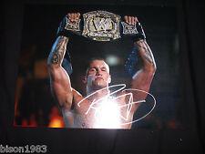 Randy Orton WWE Auto Signed 11x14 Photo WWE Championship Title Belt
