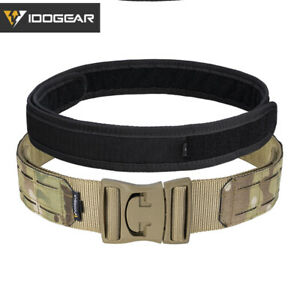"""IDOGEAR 2"""" Tactical Belt Quick Release POM Buckle Laser MOLLE Military Hunting"""