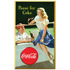 Coca-Cola Pause for Coke Baseball Wall Decal 15 x 24 Vintage Style Kitchen