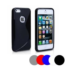 Soft Silicone Gel Case For Apple Iphone 5 - 5s