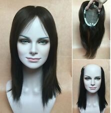 "4.7""X5.5"" SILK TOP 100% human hair topper top piece black system for women 12"""