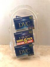 New listing 5 Pack Genuine Panasonic Dvc 60 (Mini Dv) Digital Video Cassettes Ay-Dvm60Ej