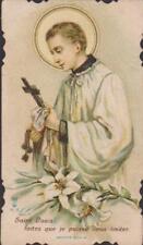 IMAGE PIEUSE HOLY CARD SANTINI - SAINT-LOUIS faites que je puisse vous imiter.