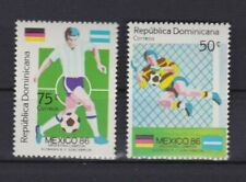 S6001) Dominica 1986 MNH World Cup Football '86 - 2v Ovptd Winners