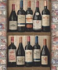 EUR 2,68/qm Tapete / Grandeco EW 3901 Weinflaschen Weinregal Exposed Warehouse