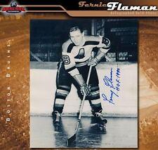 FERNIE FLAMAN Signed Boston Bruins 8x10 Photo - 70217