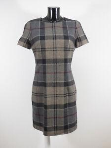 BARBOUR Damen Woll Kleid Gr 38 DE / Grau Kariert und Neuwertig ( R 7129 )