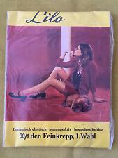 60er Nylons Strümpfe Lilo Feinkrepp 30 Den Vintage 60s Stockings Gr.3