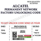 ALCATEL PERMANENT NETWORK UNLOCK CODE FOR ALCATEL OT-140