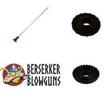 25 -.40 cal Berserker Blowgun Target Darts with 16 Point Quiver and Dart Guard