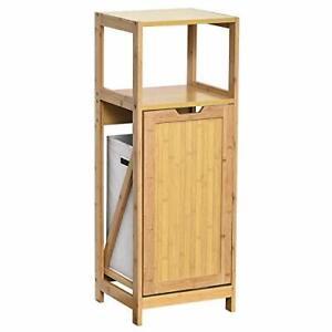 Mueble de baño bambú con cesto extraible para ropa sucia - Coleccion de MAHE