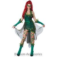 C809 Lethal Beauty Poison Ivy Batman Womens Ladies Halloween Fancy Dress Costume