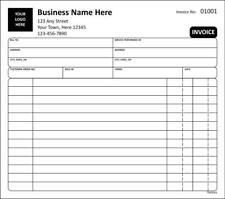 Invoice For Services / 2 or 3 Part Carbonless / Tmg061 / Customized