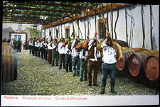 Portugal~1900's Madeira ~ Gordon & Co. Wine ~ Men Carrying Wine On Shoulders