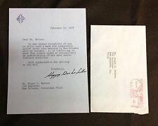 "1979 ""Happy Rockerfeller"" signed letter aft. Death of Vice President Rockefeller"