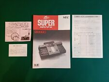 Super grafx Supergrafx SGX nec manual instructions repro