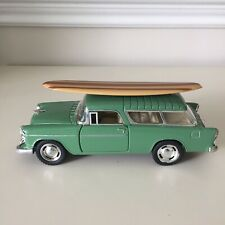 Kinsmart Diecast 1955 Chevy Nomad Surfboard Pull Back Diecast Model Toy Car 1:40