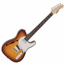 Vintage V72 Thin Line Custom Spec Deluxe Electric Guitar - Flame Tobacco Burst
