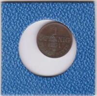 1 Pfennig Hannover 1861 B Georg V