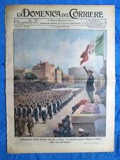 La Domenica del Corriere 10 giugno 1939 Mussolini Roma - Regina Maria - Marina