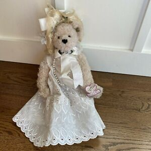 "Collection Bride Bear Artist Christy Firmage Funicello 14"" Bear Tall Pearls"
