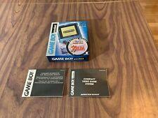 Nintendo Game Boy Pocket - Original System Box and Manual Only - Ice Blue Zelda