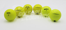 24 Assorted Yellow Mix Near Mint AAAA Used Golf Balls - FREE Shipping