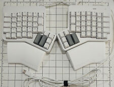 ErgoDox EZ Glow Keyboard with Cherry MX Blue, White Keycaps & Wing Rests