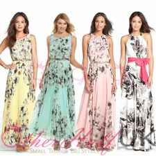 Chiffon Summer/Beach Women's Round Neck Dresses