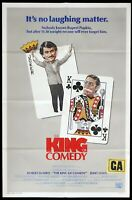 THE KING OF COMEDY Original US One Sheet Movie Poster Jerry Lewis Robert DeNiro