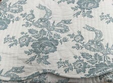 French Provincial Duck Egg Blue Sabreena Cotton Quilted Throw Rug 150 x 150 cm