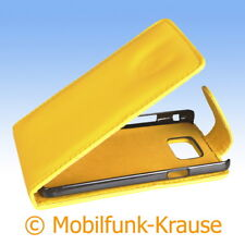 Flip Case Etui Handytasche Tasche Hülle f. Samsung Galaxy S 2 (Gelb)