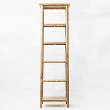 NEW Danish Style Solid Oak Timber Natural Lacquered 4 Shelf Skinny Bookshelf