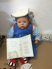 ZAPF, BETTINE KLAM VINYL PUPPE BABY PAUL 50 CM LIMITIERTE AUFLAGE, TOP ZUSTAND