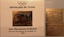 Chad chad 1971 416 a-b bloque 25 Olympics 1972 munich swimming oro mnh