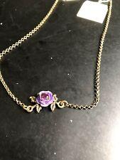 Michal Negrin Purple Rose Necklace