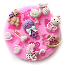 3D Silicone Fondant Cake Decorating Mould Chocolate Baking Sugarcraft Mold Decor