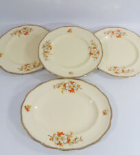 3 Vtg Alfred Meakin Marigold Marquis Shape Art Deco Dinner Plates Serving Plate