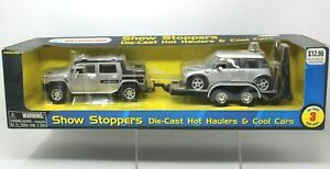 Show Stoppers Kid Connectiont Hummer H2 SUT,  Mini Cooper & Trailer 3PC 1:24 SB4