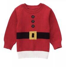 1d1dfc349 NWT Baby Boys Gymboree Red Santa Claus Sweater 100% Cotton Intarsia 18-24  Months