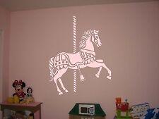 Merry Go Round Carousel Horse Vinyl Wall Sticker