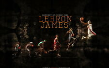 "02 LeBron James Miami Heat BasketBall Star MVP 22""x14"" Poster"