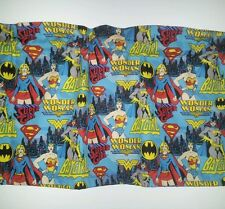 SUPER GIRL BAT GIRL WONDER WOMAN MOVIE FABRIC LINED WINDOW VALANCE