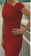 HERVE LEGER Red Open Back Bandage Long Dress Gown