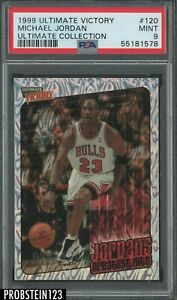 1999-00 Ultimate Victory #120 Michael Jordan Bulls HOF 54/100 PSA 9 MINT POP 6