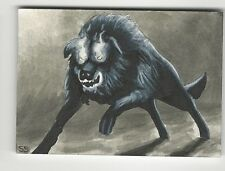 2012 Viceroy Cryptids Artist Sketch Card by Stephanie Swanger WOW! 1/1