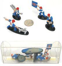 4pc 1998 TYCO Hot Wheels Andretti STP #4 HO Slot Car Racing PIT CREW Scene 33573