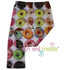"Colorful Donuts Leggings Pants Fits 18"" American Girl Doll Clothes"